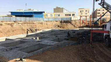 بتن ريزي فونداسيون پروژه درمانگاه امام علي(ع) الوند